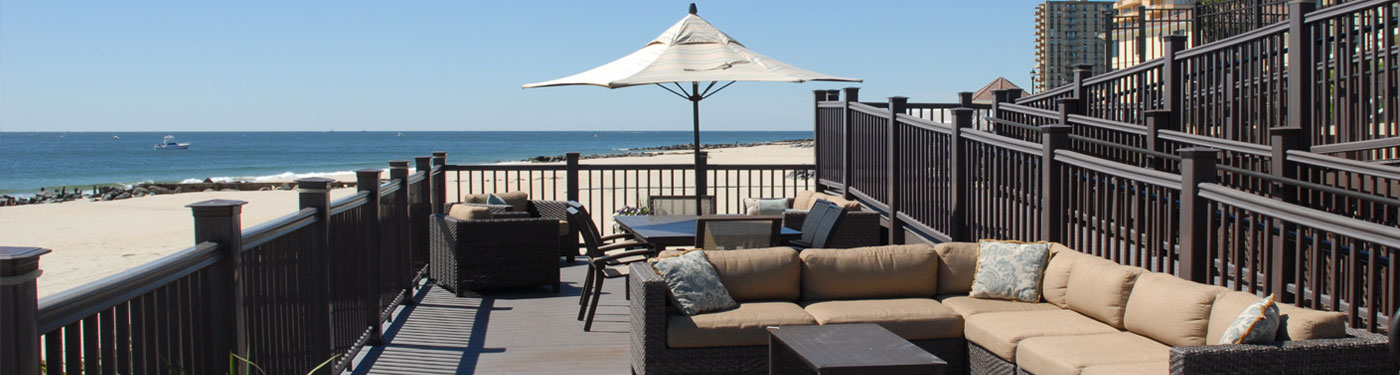 Ocean front at Harbour Mansion in Long Branch, NJ